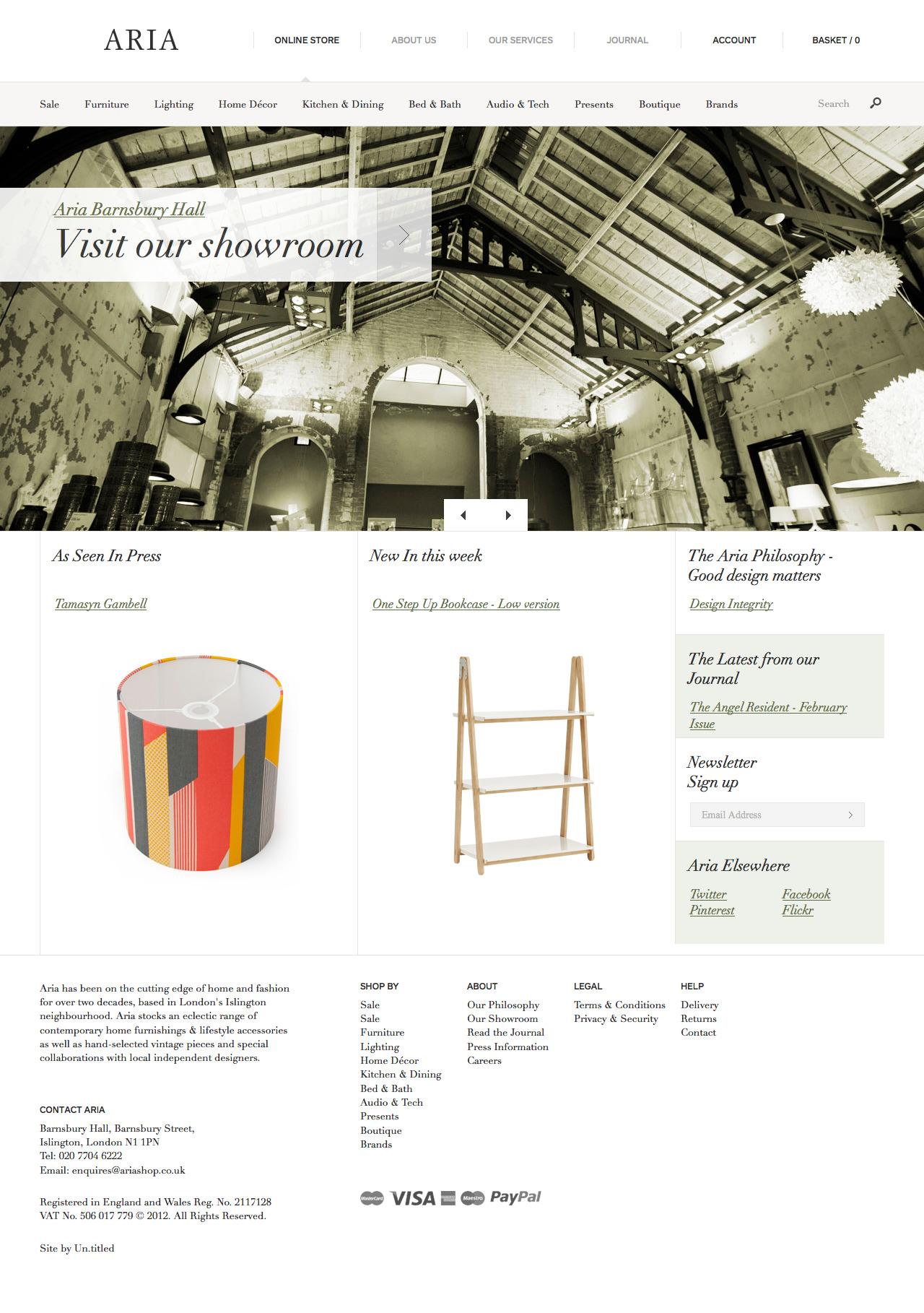 Contemporary Furniture, Design, Lighting & Home Accessories - Call 020 7704 6222 - Aria
